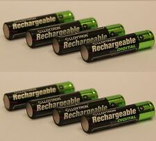 8 x Aaa NiMh Rechargeable Batteries 1100mAh Ideal for Digital Camera Toy Remote