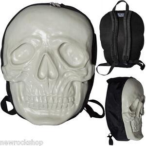 Kreepsville 666 Skull Backpack In Monster White Glow In The Dark
