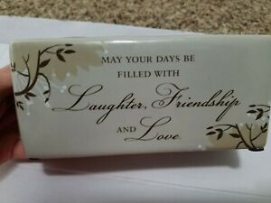 Decorative candle holder May your day be filled with laughter and friendship