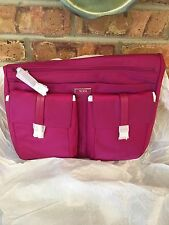 $225 NWT TUMI LOGO 0481986BYO Phuket Crossbody Nylon Purse Bag Pink Berry Travel