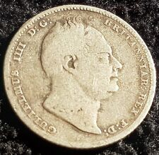 More details for 1835 king william iiii sixpence 6d .925 silver coin