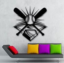 Baseball Player Sports Game Ball Bat Decor Wall Mural Vinyl Sticker (i014)