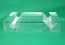 Android Tablet Holder mini Stand - Made in USA from Thick Crystal Clear Acrylic