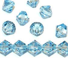 SCB615 Aquamarine Blue 8mm Xilion Faceted Bicone Swarovski Crystal Beads 12pc