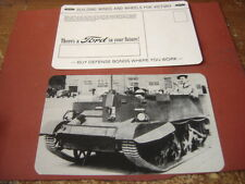 ORIGINAL WWII FORD MOTOR BREN GUN CARRIER T-20 UNVERISAL USA MADE  POSTCARD