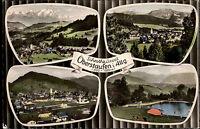 Oberstaufen Allgäu Bayern Mehrbild AK ~1960/70 Schwimmbad Totale Panorama Berg