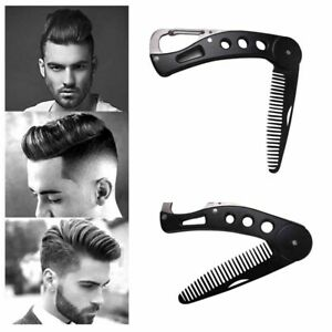Stainless Steel Beard Comb Foldable Straightening Comb Men's Beard Styling Tools