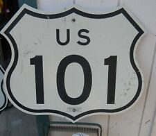 """Classic Salvaged """"California Hwy 101 Road Reflection Sign 28"""" W X 24"""" T As Is"""