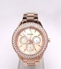 Fossil Women's ES3003 Stella Analog Display Analog Quartz Rose Gold Watch