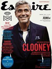 ESQUIRE Magazine UK BRITISH,January 2014,George Clooney,John Balsom NEW