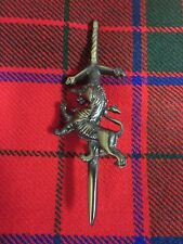 NEW Rampant Lion Antique Brass Finish Pin Accessory for Kilts