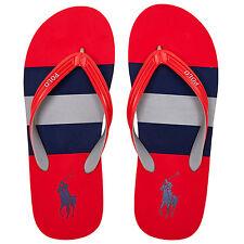 RALPH LAUREN Red Whitlebury II Flip Flops. Size 9.