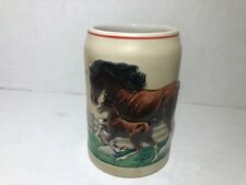 Budweiser Clydesdale Mare and Foal stein from 1988 Cs90 Bud