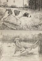 TRI-CHEM 7385 HUNTING DOGS READY TO PAINT LIQUID EMBROIDERY 12 X 9 EACH