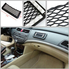 7.5in Car Storage Mesh Net Resilient String Phone Bag Holder Organizer For Benz