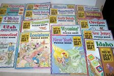 37~HIGHLIGHTS~WHICH WAY USA?~CHILDERN'S~STATE PUZZLE BOOKS~MAPS~HOMESCHOOL