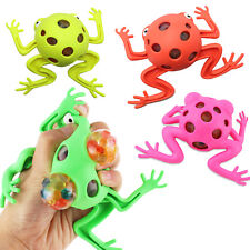 4 Pack Frog Squeeze Ball Toy ~ Jelly Water Bead Grape Ball Stress Relive Fidget