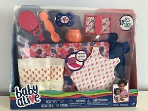 BABY ALIVE New Mommy Kit ACCESSORIES SET Lot Diapers Bag Outfit Spoon Pacifier +
