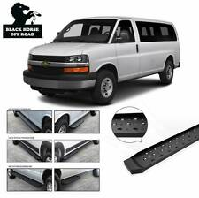 Commercial Running Boards Side steps Fits:2003-2017 Chevy Express 1500 2500 3500