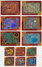 "Tableware Set (12 piece) : Coasters/Placemats with Aboriginal Theme with ""Hunter"