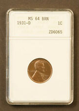 1931-D 1C MS64 BN Lincoln Cent