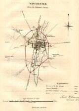 WINCHESTER town/borough plan. REFORM ACT. Weeke. Hampshire. DAWSON 1832 map
