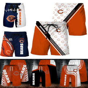 Chicago Bears 3D Sports Shorts Summer Casual Jogging Pants Athletic Fit S-5XL