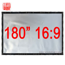"180"" 16:9 High Quality Profile Silver 3D HD Projector Screen to Home Theater"