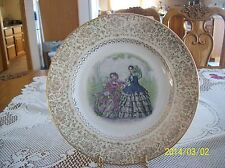 Southern Bell Ladies Victorian Pattern 23 Kt Gold Vtg Imperial Salem China Plate