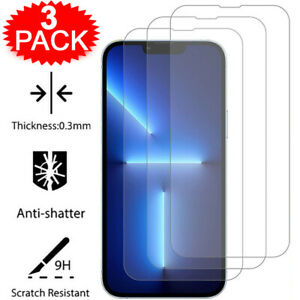 For iPhone 13 12 11 Pro Max X XR XS SE 8 7 Plus Tempered Glass Screen Protector