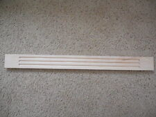 "Kraftmade Natural wood maple Wall Fluted Filler Molding 3"" X 32"" Moulding"