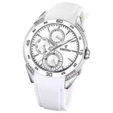 Relojes de pulsera de plata de acero inoxidable de alarma