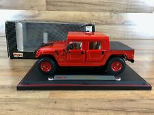 Maisto 1:18 Red Hummer Hard Top Diecast Model Special Edition with Box 31857