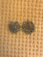 Pair Of Vintage 1950s Lucky Pixie Horseshoe Brooches
