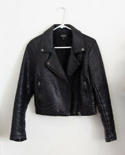 TopShop Faux Leather Moto Biker Jacket Size Small or US 6