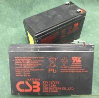 Batteria ermetica al piombo CSB XTV 1272 F2 12 Volt 7,2 Ah