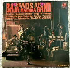 Baja Marimba Band  HEADS UP   on A&M Records   Lp   33 rpm