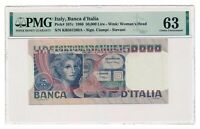 ITALY banknote 50.000 Lire 1980 PMG MS 63 Choice Uncirculated