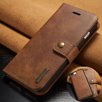For iPhone 6S 7 Plus/5 SE Leather Removable Wallet Magnetic Flip Card Case Cover