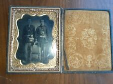 Civil War Tin Type Photgraph Of 2 Uniformed Soldiers