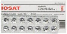 iOSAT Potassium Iodide KI Tablets 130 mg 14 Radiation Blocking TABS EXP 2024