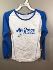 Nwt Air Force White Blue Long Sleeve Shirt Youth Small 6/8 Silver Falcons