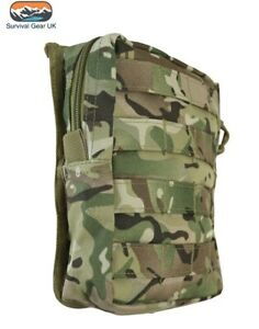 BTP Camo Molle Large Zipped Army Utility Webbing Pouch RAF Security Airsoft
