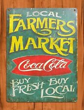 "TIN-UPS TIN Sign ""Local Farmers Market Coca Cola Fruits And Vegetables Store"