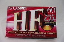 Cassette Audio Vierge NEUVE SONY HF 60 Hight Fidelity CD Position Normal IEC K7
