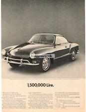 1970 Volkswagen VW Karmann Ghia 1,500,00 Lire Vtg Print Ad