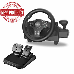 Racing Steering Wheel Shifter Pedal Set PlayStation 4 PS4 Pro Xbox One S PS3 PC