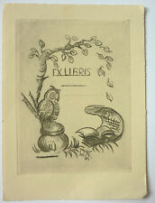 Exlibris, Bookplate Jugendstil, 4 Stück blanco