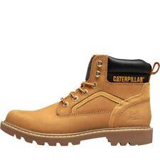 Caterpillar Mens Stickshift Premium Nubuck LEATHER Work Boots Beige 8,10,11 UK