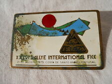 Badge insigne camping Costa de santo Portugal 36 International  Rallye 1975